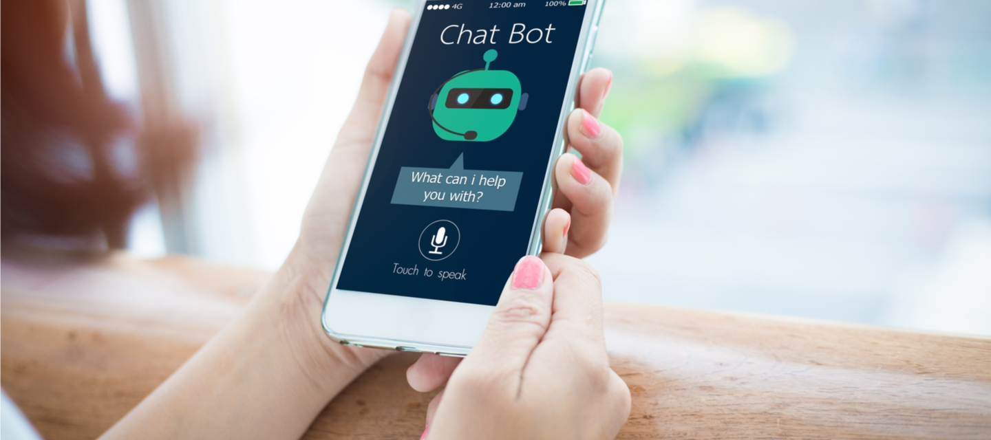 chat bot image on mobile phone