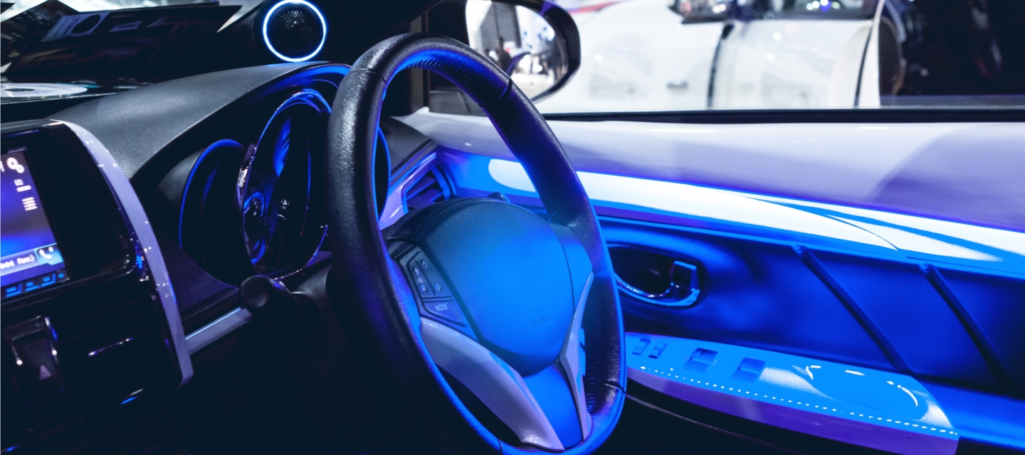 Ambient lighting in car interior