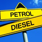 petrol and diesel directional signs