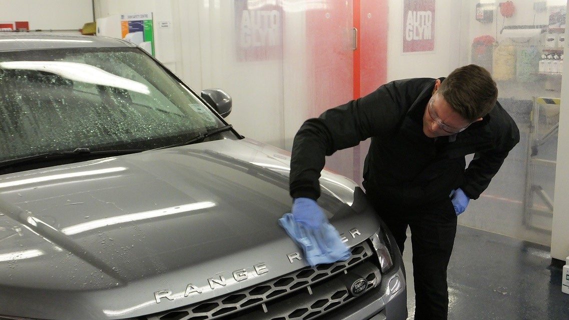 car being cleaned