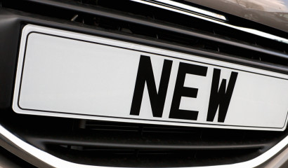 Licence plate showing the word NEW